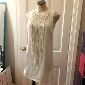 Zara white tassel from shift dress